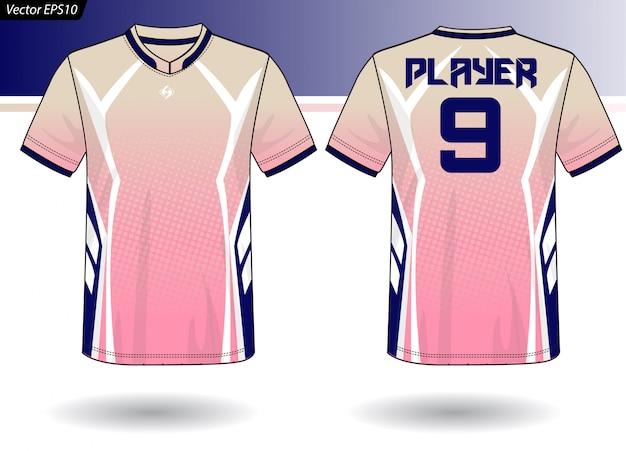 Plantilla de jersey deportivo para uniformes de equipos.