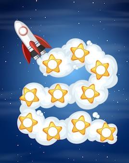 Plantilla de juego de cohete espacial