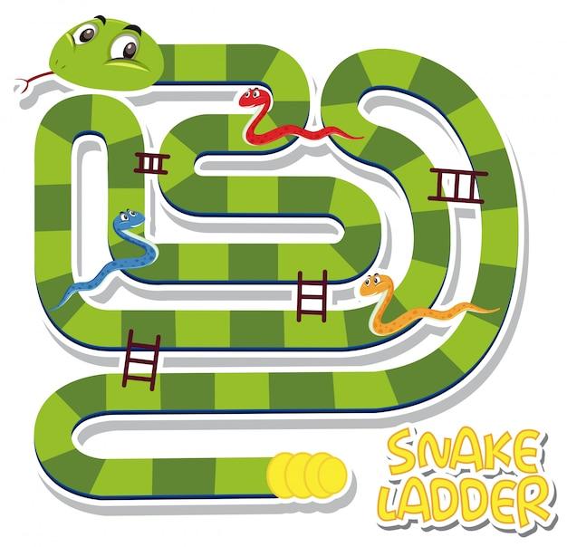 Plantilla de juego de escalera de serpiente