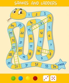 Una plantilla de juego de escalera de serpiente