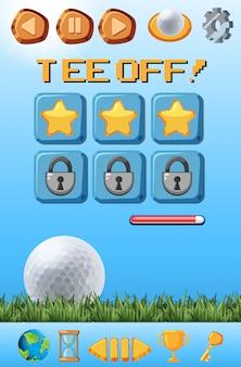 Una plantilla de juego de golf.