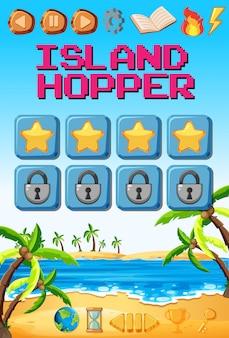Una plantilla de juego de la isla.