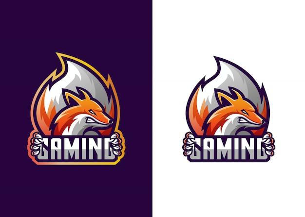 Plantilla de juego con logo de fox