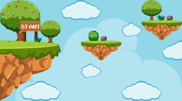 Plantilla de juego de salto en el cielo
