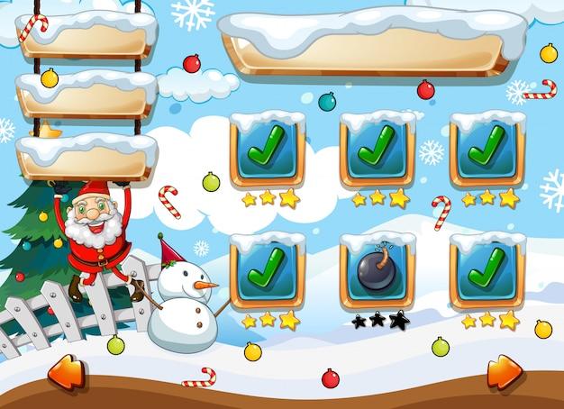 Plantilla de juego de santa navidad