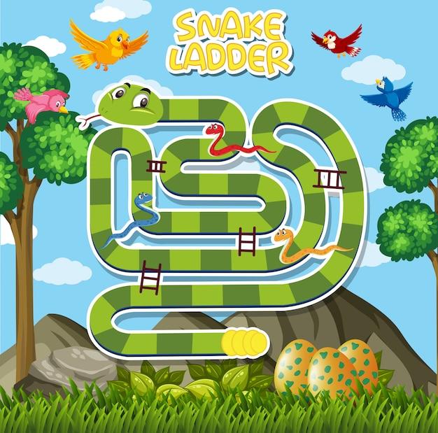 Una plantilla de juego de serpiente.