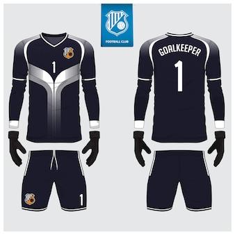 Plantilla de kit de fútbol o camiseta de portero
