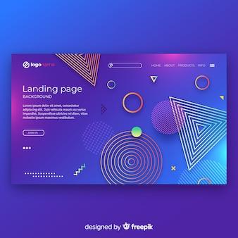 Plantilla de landing page abstracto con degradado