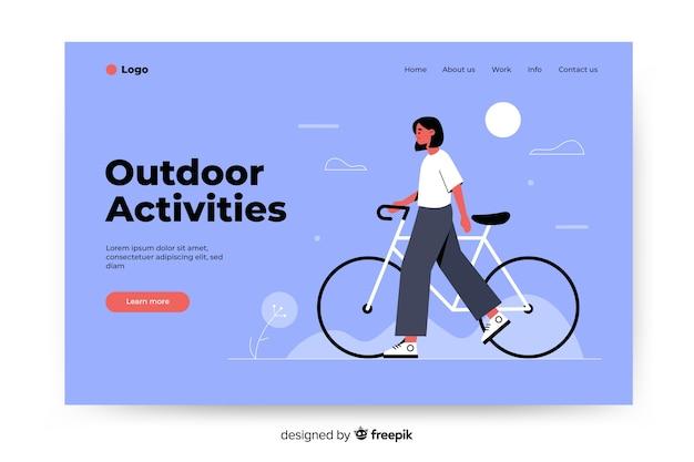 Plantilla de landing page de actividades en la naturaleza