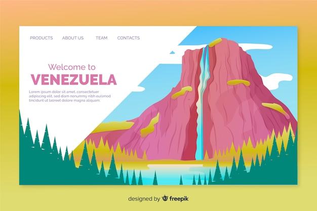 Plantilla de landing page de bienvenida a venezuela