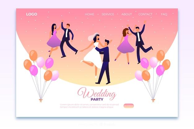 Plantilla de landing page de boda