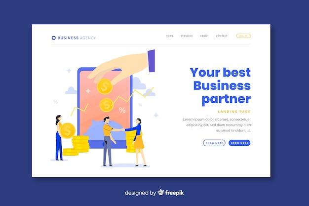 Plantilla de landing page de colaboración de negocios