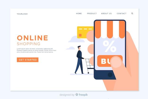 Plantilla de landing page de compra online
