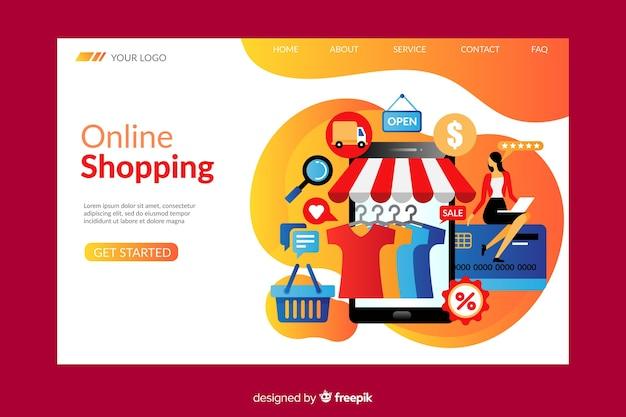 Plantilla de landing page de compras online
