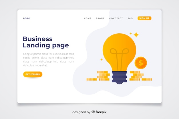 Plantilla de landing page de concepto de negocio
