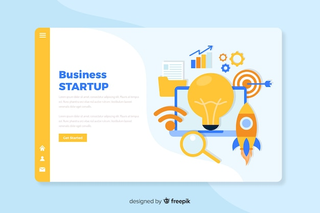Plantilla de landing page de concepto de negocios