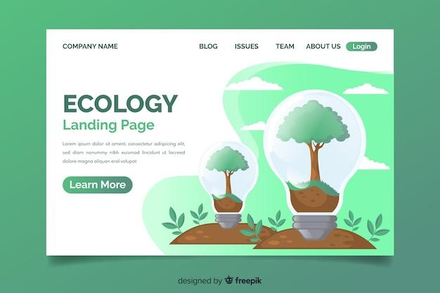Plantilla de landing page para conceptos ecológicos