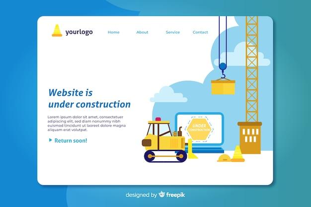 Plantilla de landing page en construcción