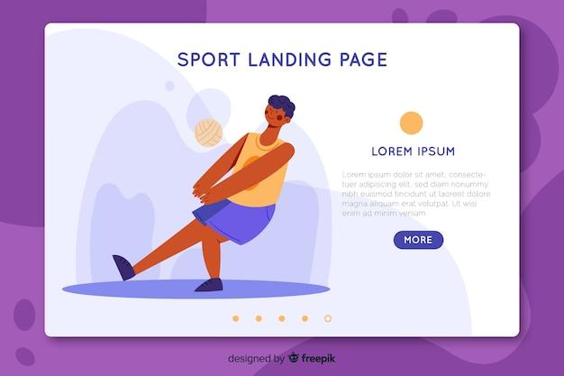 Plantilla de landing page de deporte