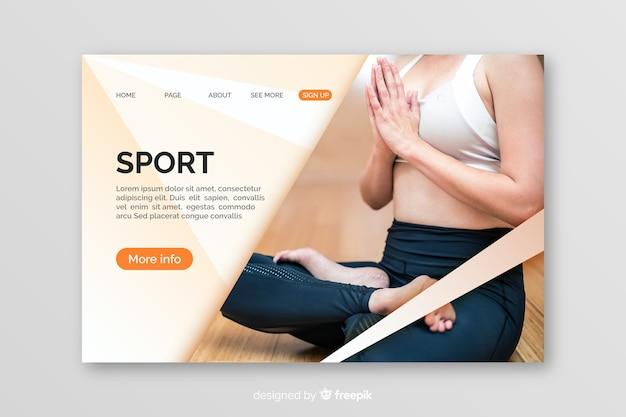 Plantilla de landing page de deportes con image