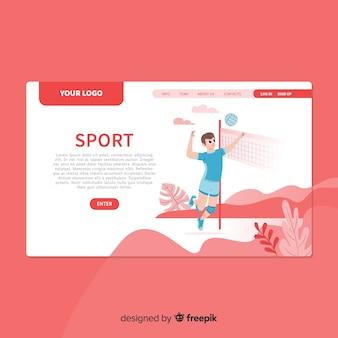 Plantilla de landing page de deportes