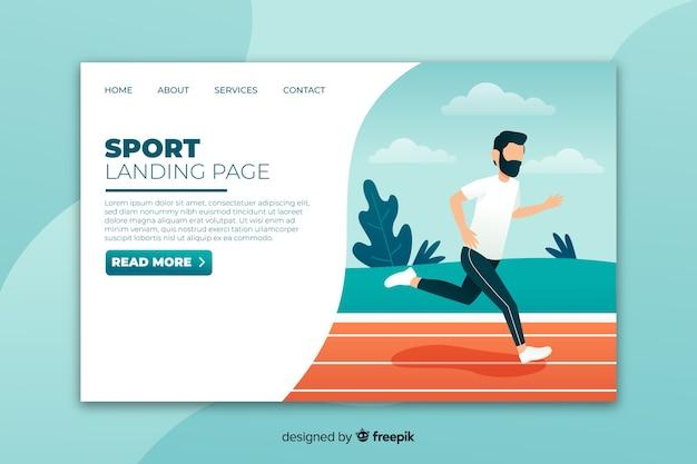 Plantilla de landing page deportiva