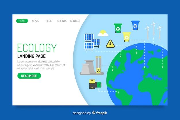 Plantilla de landing page de ecología