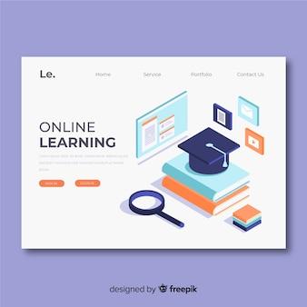 Plantilla de landing page de educación online