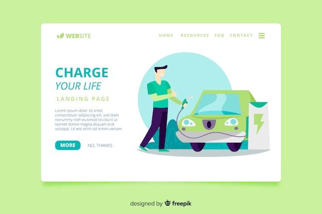 Plantilla de landing page de energías renovables
