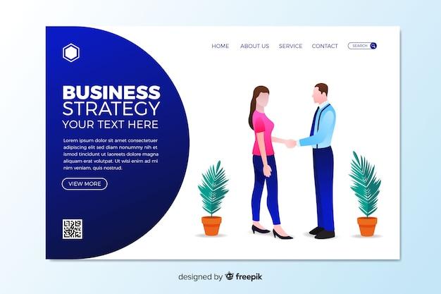 Plantilla de landing page de estrategia de negocios