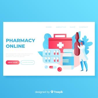 Plantilla de landing page de farmacia online