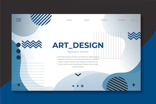 Plantilla landing page geométrica color del año 2020