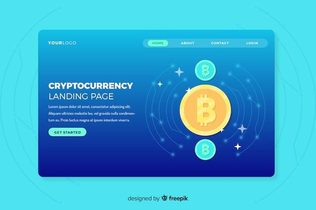 Plantilla de landing page de intercambio de criptomonedas