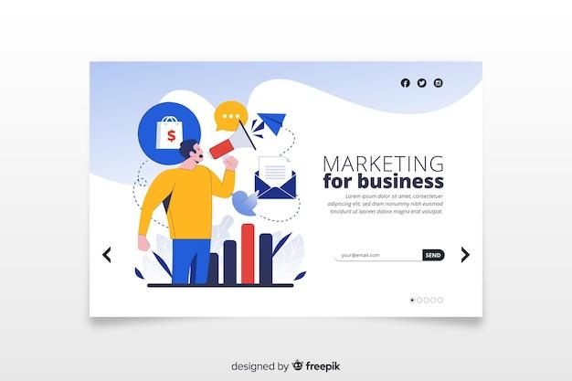 Plantilla de landing page de marketing