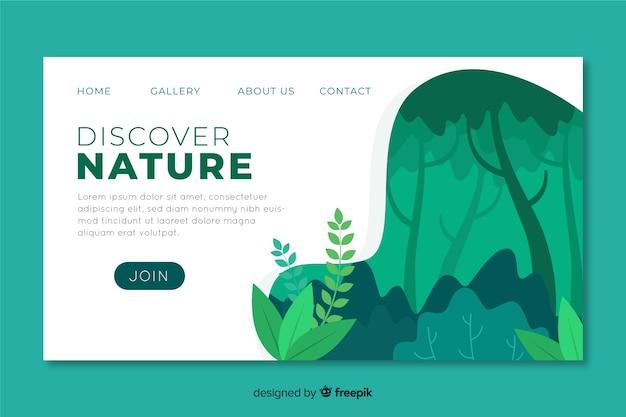 Plantilla de landing page de naturaleza