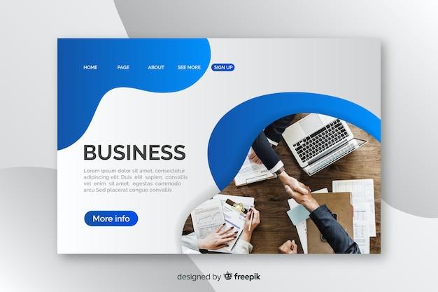 Plantilla de landing page de negocios con image