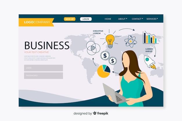 Plantilla de landing page de negocios