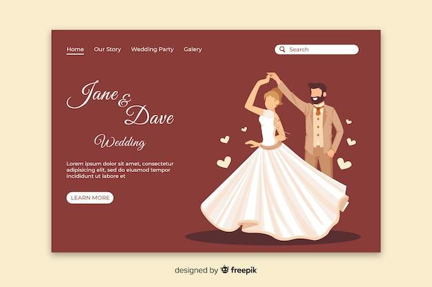 Plantilla de landing page de recien casados