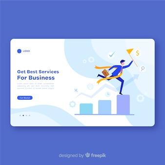 Plantilla de landing page de servicios de negocios