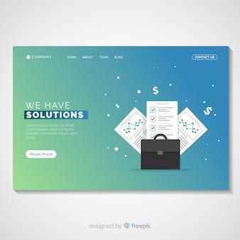 Plantilla de landing page de soluciones de negocios