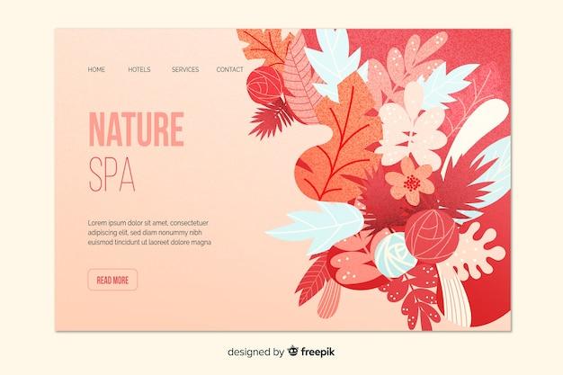 Plantilla de landing page de spa natural