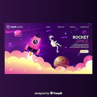 Plantilla de landing page de startup de negocio