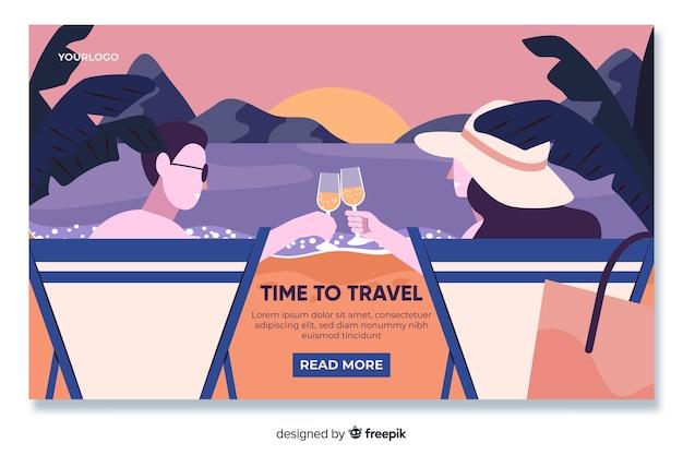 Plantilla de landing page de viajes