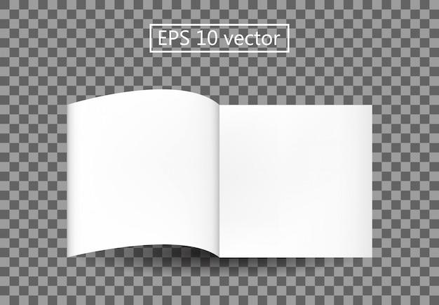Plantilla de libro en blanco