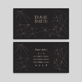 Plantilla linda del diseño de la tarjeta de presentación de la tarjeta de visita del modelo