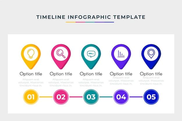 Plantilla de línea de tiempo empresarial infografía