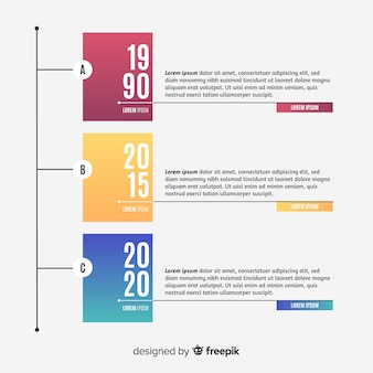 Plantilla de línea de tiempo infografía estilo plano