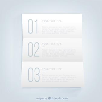 Plantilla de lista infográfica