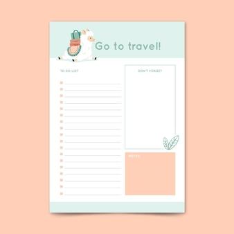 Plantilla de lista de tareas
