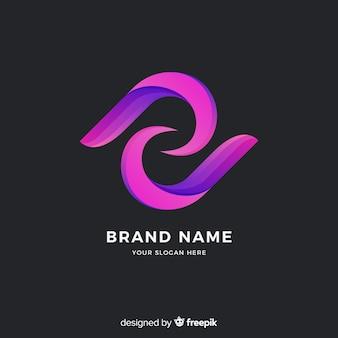 Plantilla logo abstracto estilo degradado